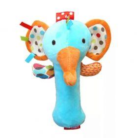 Игрушка-пищалка с погремушкой Слоник
