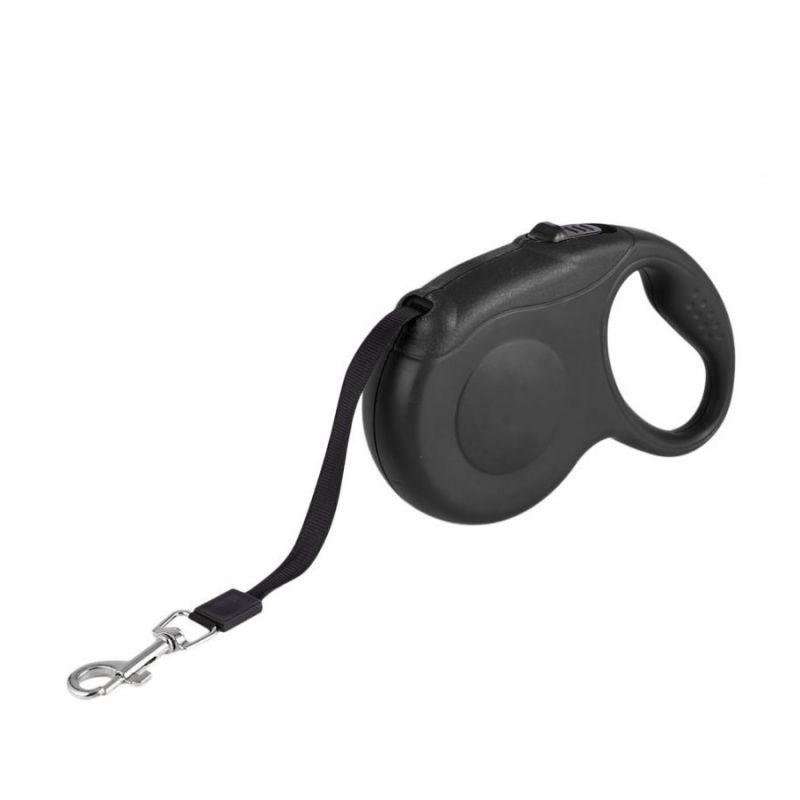 Рулетка-Поводок Для Собак С Кнопочным Блокиратором Длины RETRACTABLE DOG LEASH, 3 М, Цвет Черный