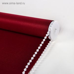 Штора рулонная 60х180 см, цвет бордовый   3929570