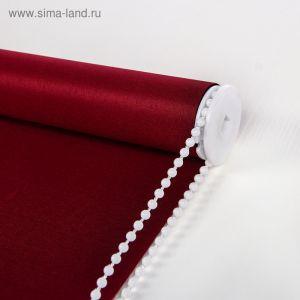Штора рулонная 90х180 см, цвет бордовый   3929571