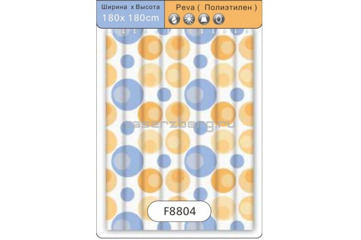 Frap F8804 Шторка для ванны 180х180