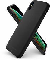 Купить оригинальный чехол Spigen Silicone Fit для iPhone Xs / X черный чехол для Айфон Xs / X в Москве в интернет магазине аксессуаров для смартфонов elite-case.ru