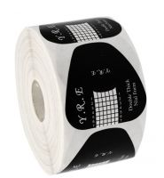 Формы YRE универсальные для наращивания ногтей, черные (двойная толщина)