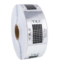 Формы универсальные YRE для наращивания ногтей, серебристые FT-01