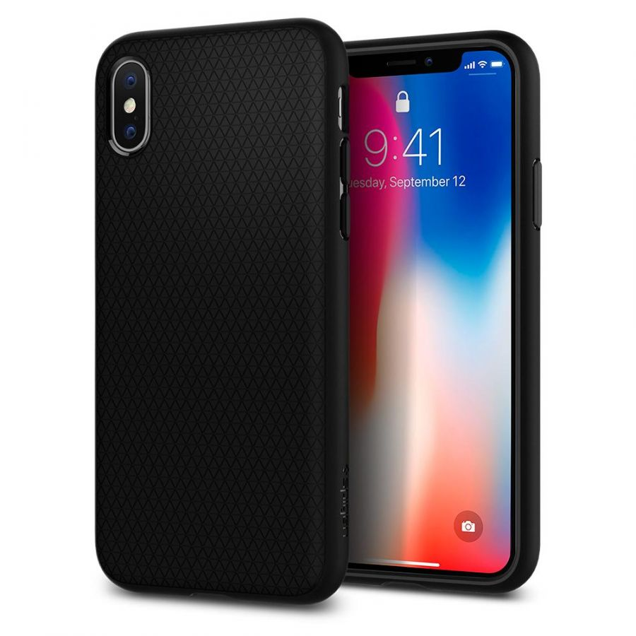 Чехол SGP Spigen Liquid Air для iPhone Xs / X черный
