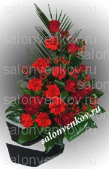Траурный букет из живых цветов N11