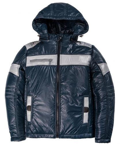 Утепленная куртка с капюшоном для мальчиков 9-12 лет Bonito темно-синяя