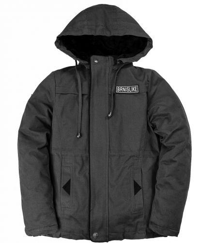 Куртка-ветровка с капюшоном для мальчиков 8-10 лет Bonito темно-серая