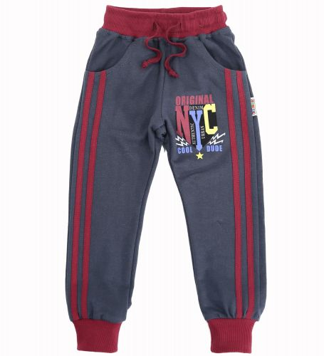 Спортивные брючки для мальчика 2-5 лет Bonito kids темно-серые