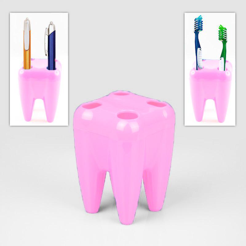 Органайзер Для Щёток Зуб, Цвет Розовый