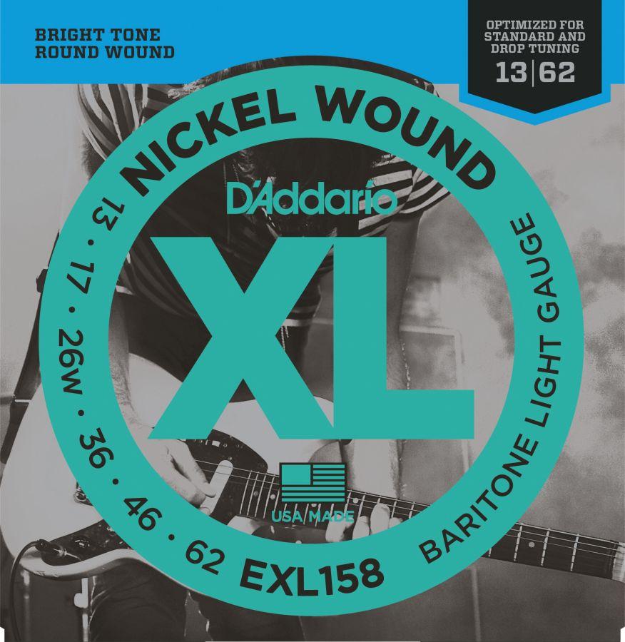D`ADDARIO EXL158 (13-62) Струны для электрогитары