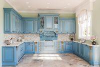 Кухня DIAMANTE Голубая