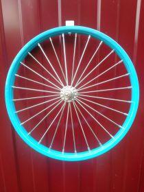 Колесо для детского велосипеда 18 дюймов заднее синее