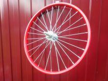 Колесо для детского велосипеда 20 дюймов заднее красное