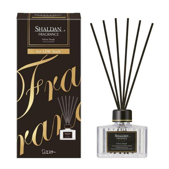 ST Освежитель воздуха для комнаты «SHALDAN», «Бархатный мускус» (стеклянный флакон+палочки), 65 мл