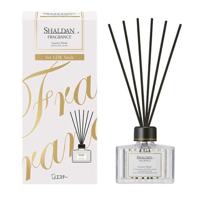 ST Освежитель воздуха для комнаты «SHALDAN», «Роскошный мускус » (стеклянный флакон + палочки), 80 мл