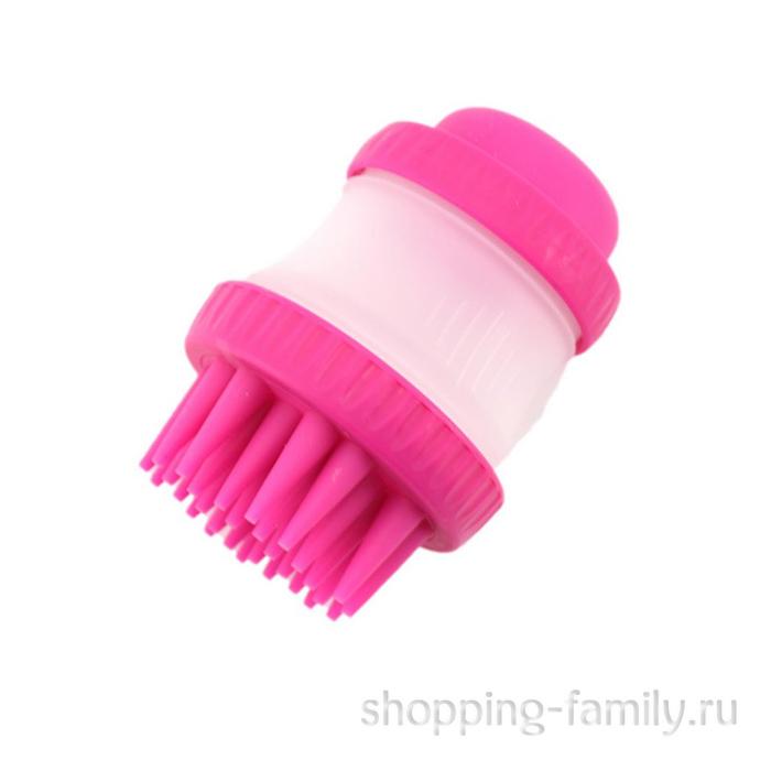 Щетка для животных Cleaning Device The Gentle Dog Washer, розовая