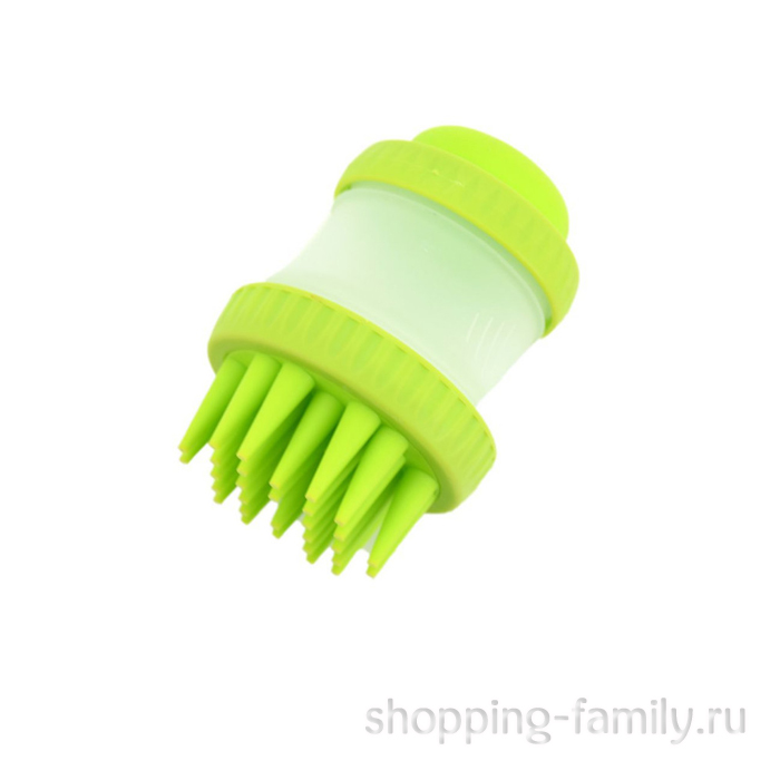 Щетка для животных Cleaning Device The Gentle Dog Washer, зеленая