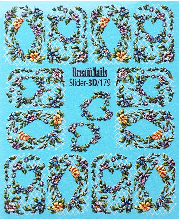 Слайдер-дизайн Dream Nails 3D/179