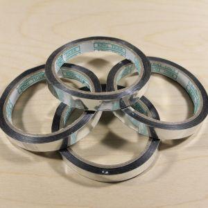 `Тейп-лента 12 мм металлизированная, цвет серебро