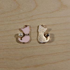 """Подвеска """"Кошка"""", цвет розовый, размер: 32*25мм (1уп = 10шт), КБС0338-1"""
