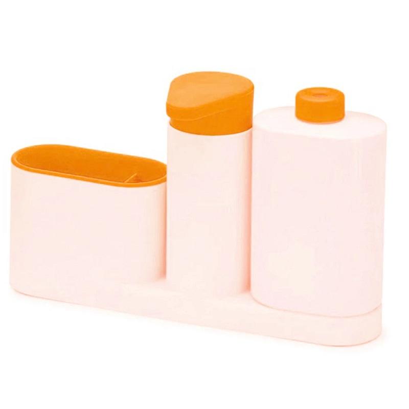 Органайзер для раковины SINK TIDY SEY, 3 предмета, цвет оранжевый