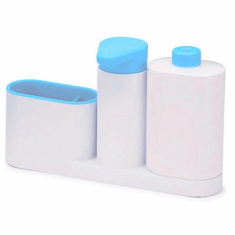 Органайзер Для Раковины Sink Tidy Sey, 3 Предмета, Цвет Голубой