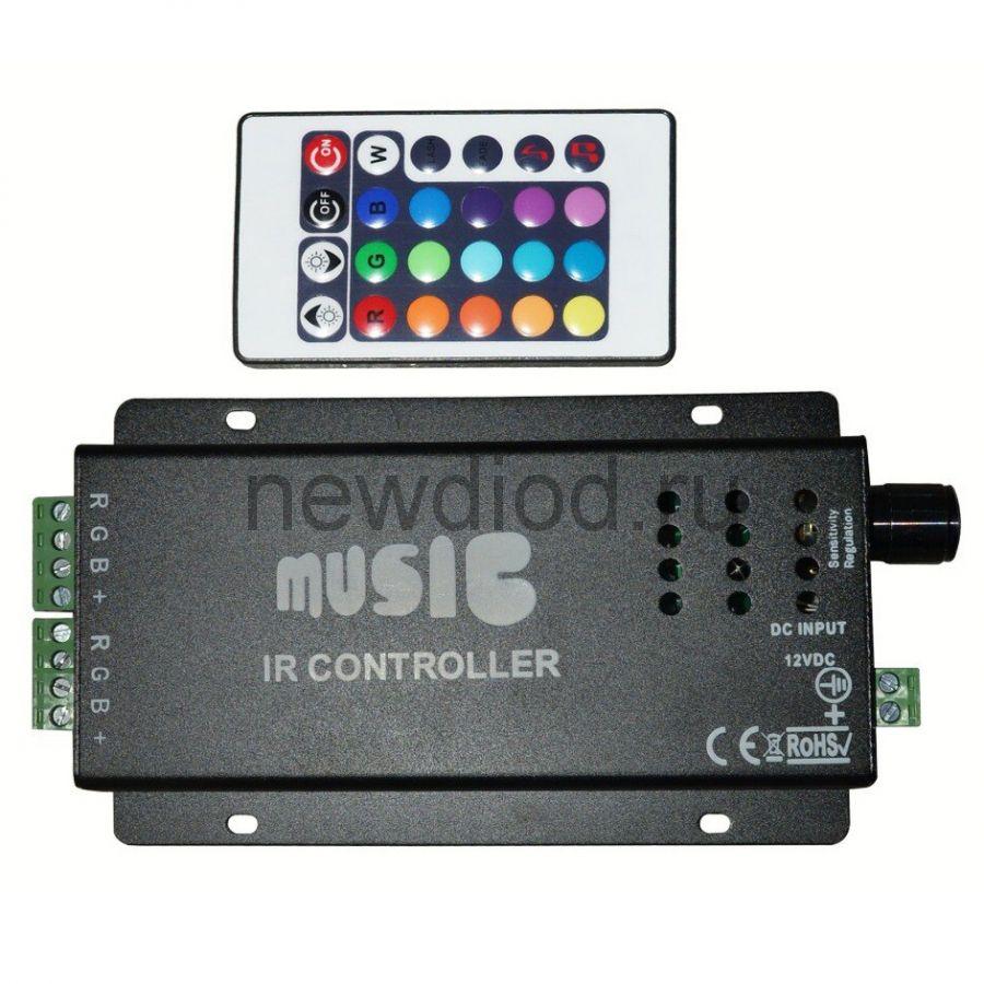 RGB контроллер МУЗЫКАЛЬНЫЙ 6002 12/24V 4A*3 Oreol