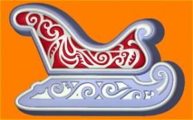 Форма для мыла и шоколада 524 - Сани
