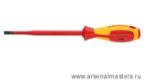 Тонкая отвертка для винтов с шлицевой головкой KNIPEX 982035SL