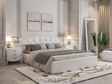 Кровать Верона из экокожи