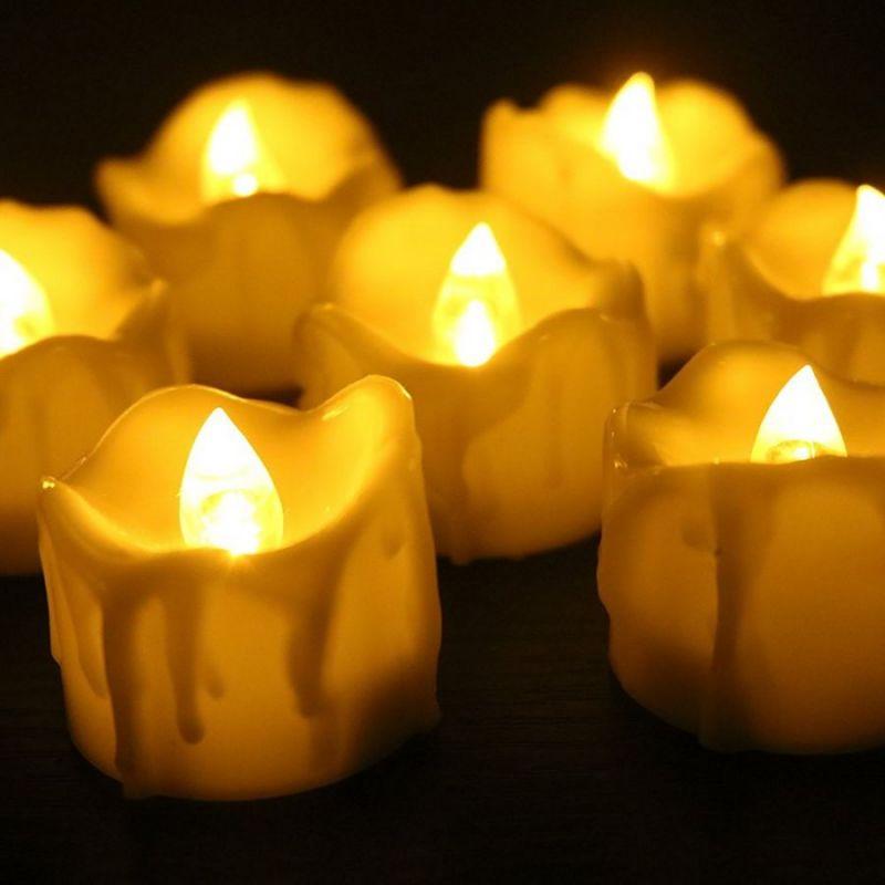 Светодиодный фонарик в форме свечи, цвет бежевый