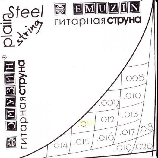 EMUZIN 010с Струна без обмотки диаметром .010 /сталь/