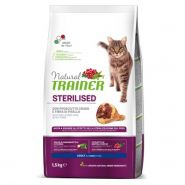 Trainer Natural Cat Sterilised Adult With Dry-Cured Ham And Pea Fibre Корм с сыровяленой ветчиной и клетчаткой гороха для стерилизованных кошек (1,5кг)