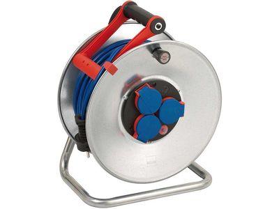 Удлинитель на катушке Brennenstuhl Garant S 40 метров; 3 розетки; кабель AT-N05V3V3-F 3G1,5 синий; IP44 (1199840)
