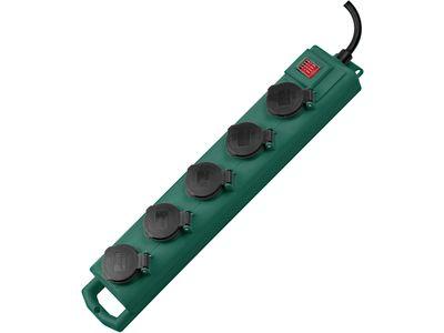 Удлинитель садовый Brennenstuhl Super-Solid SL 554 DE, 5 розеток, IP54; 5 метров; кабель H07RN-F 3G1.5 (1159910215)