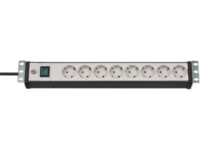 Удлинитель для серверных и сетевых шкафов Brennenstuhl Premium-Line 19'', 8 розеток; 3м., кабель H05VV-F 3G1,5 (1156057018)