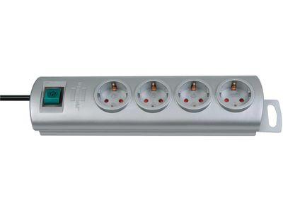 Удлинитель Brennenstuhl Primera-Line 4 розетки, 1,5 метра, кабель H05VV-F 3G1,5; серый (1153390124)