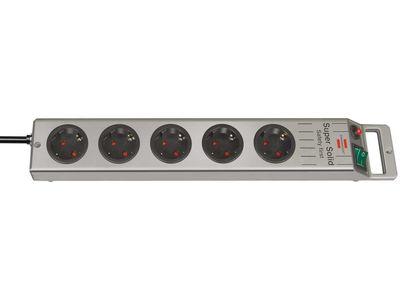 Удлинитель Brennenstuhl Super-Solid-Line 5 розеток; 2,5 метра; кабель H05VV-F 3G1,5; серый (1153340115)