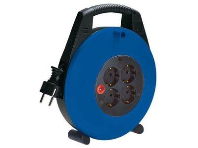Удлинитель на катушке с ручкой Brennenstuhl Vario Line 10 метров, 4 розетки с кабелем H05VV-F 3G1,5; синий (1103466)