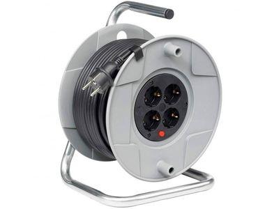 Удлинитель на катушке Brennenstuhl AK260 40 метров, 4 розетки, кабель H05VV-F 3G1,5 (1098068001)