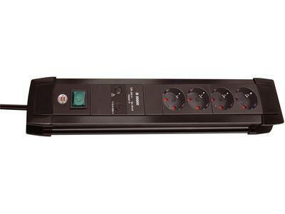 Сетевой фильтр Brennenstuhl Premium-Line 30000 А, 4 розетки, 1,8 метра, черный, кабель H05VV-F 3G1,5 (1155000374)