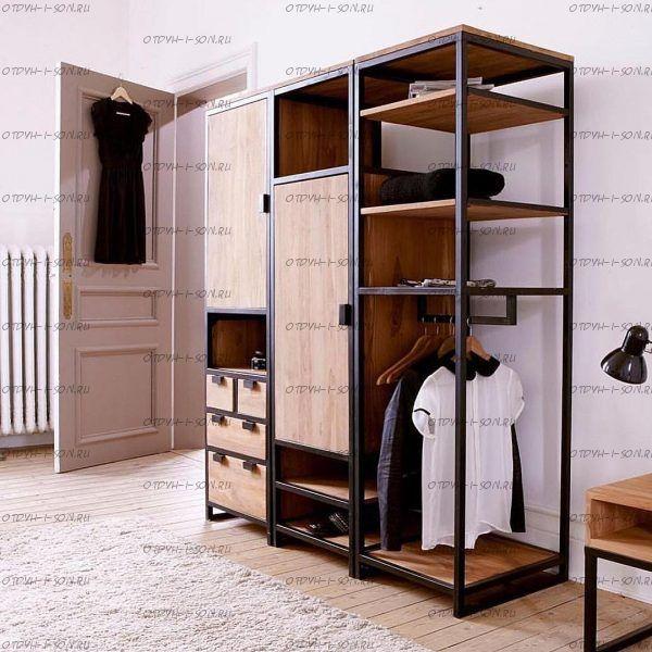 Шкаф трехдверный Loft №1 (170х60х180)