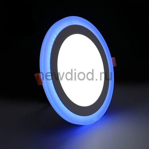 Светильник встраиваемый Sirius 18W+6W-1260Lm 210/245mm синий КРУГ Oreol