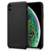 Чехол Spigen Silicone Fit для iPhone Xs Max черный