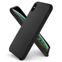 Купить чехол Spigen Silicone Fit для iPhone Xs Max черный чехол для Айфон Xs Max в Москве в интернет магазине аксессуаров для смартфонов elite-case.ru