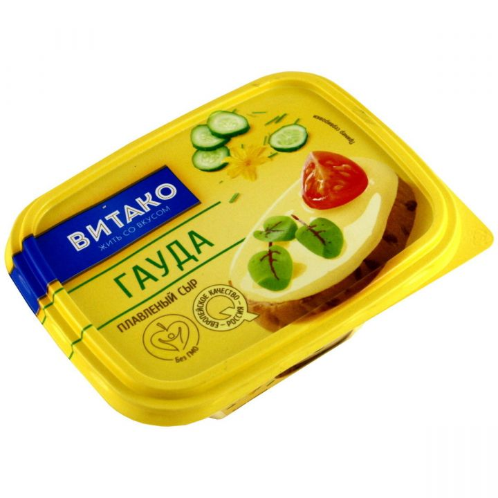 Сыр Гауда плавл.ванночка 60%  200г Витако