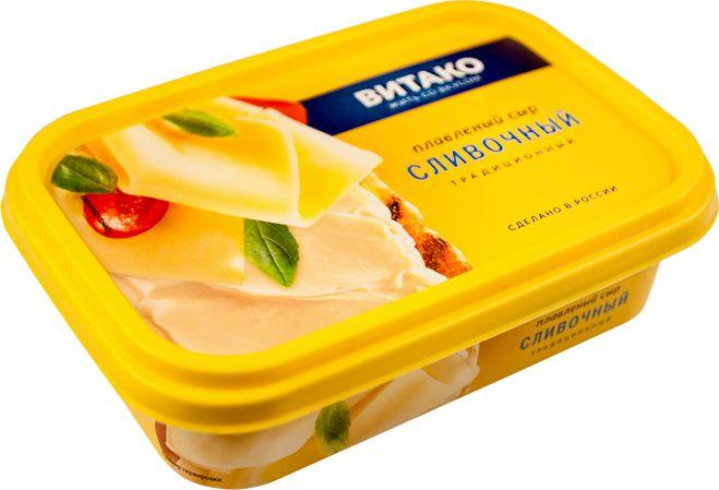 Сыр Сливочный плавл.ванночка 60%  200г Витако
