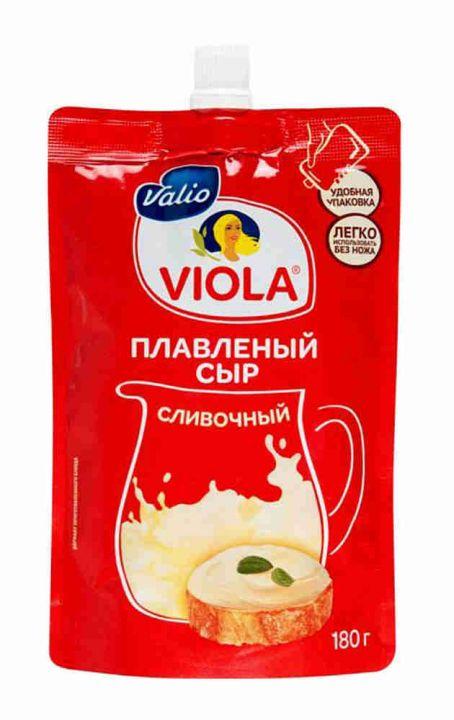 Сыр Виола Сливочный плавленый дой-пак 45% 180г Валио ООО