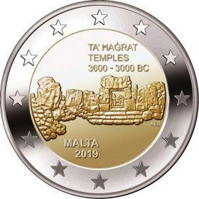 Храм Та' Хаджрат 2 евро Мальта 2019